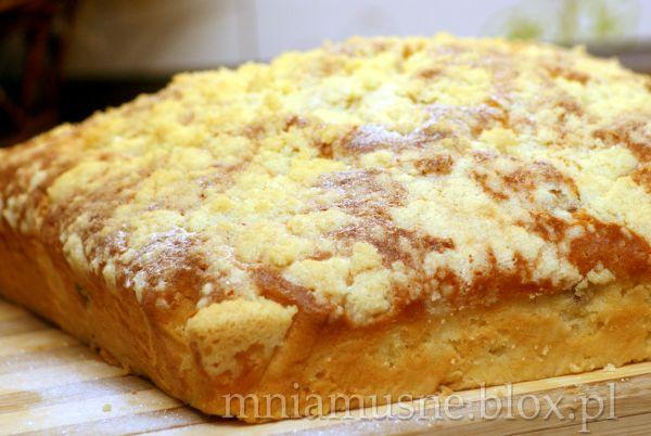 Kokosowe ciasto ucierane z nektaryną i kruszonką