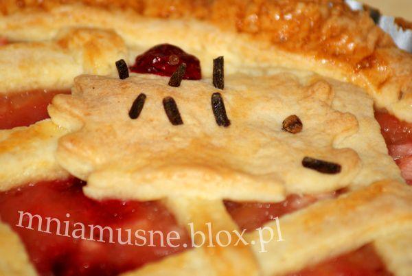 Tarta jabłkowa ze świeżą żurawiną