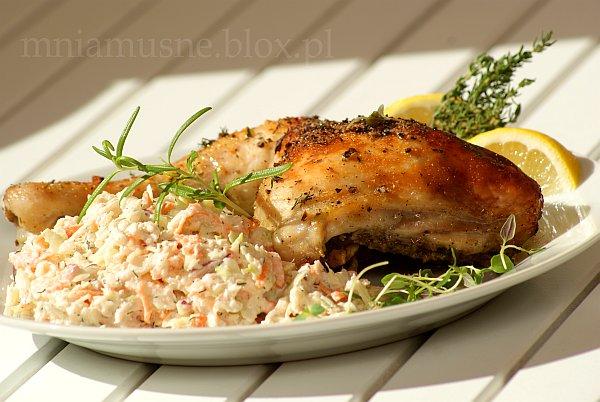 Niedzielny kurczak cytrynowo miodowy z Colesławem