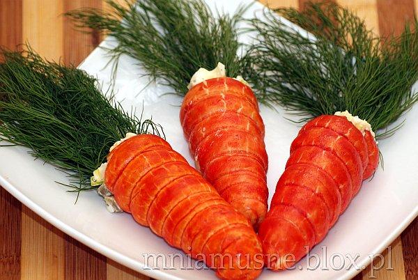 Sałatka w marchewkach