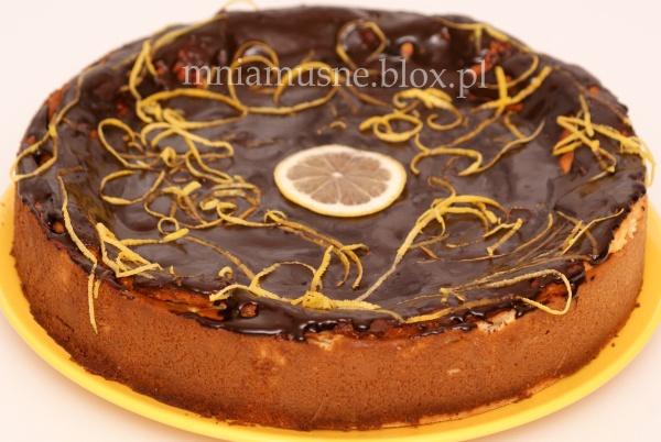 Sernik miodowo cytrynowy w czekoladzie