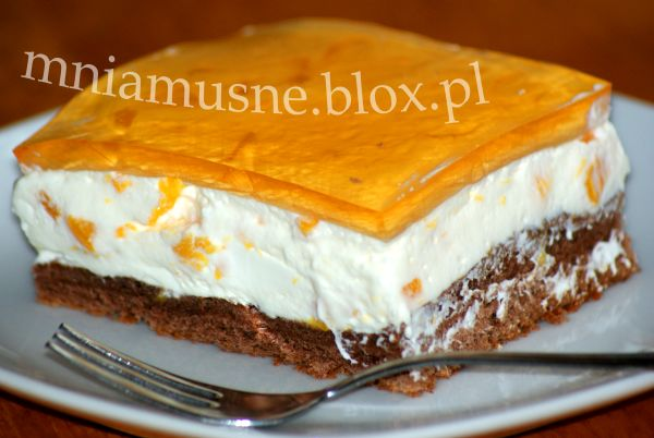 Ciasto z brzoskwinią i kremem